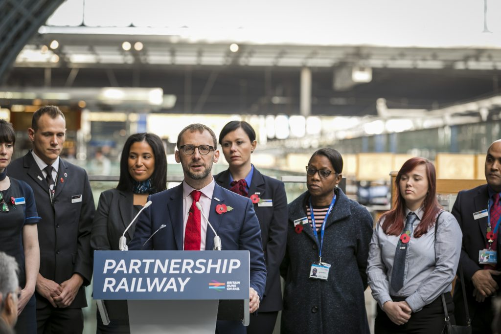 RDG CEO Paul Plummer at the launch of the Partnership Railway plan. Photo: RDG.